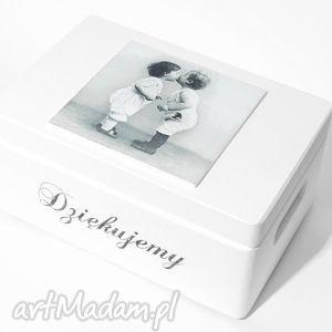 Ślubne pudełko na koperty Kopertówka Uniwersalne Love Napis Dziękujemy