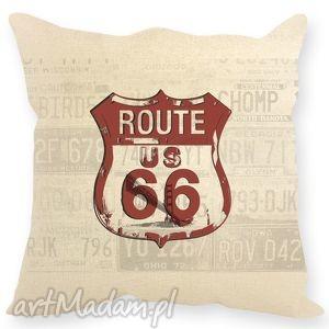 hand-made poduszki poszewka dekoracyjna,, route 66