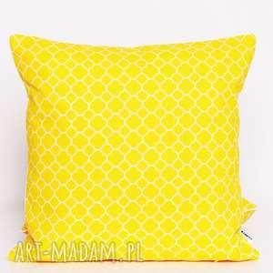poduszka little fresh yellow 40x40cm od majunto, koniczyna-marokańska