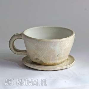 Prezent Filiżanka do kawy - cappuccino oryginalne rękodzieło, kubek, prosty
