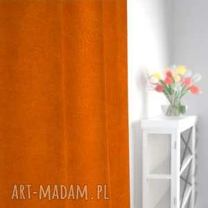 dekoracje zasłona tweed jodełka pomarańcz, zasłona, zasłonka, tweed, okno