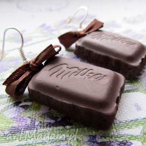 hand made kolczyki kolczyki mleczne czekoladki