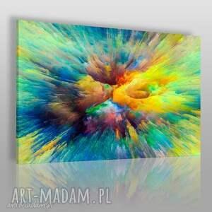 obraz na płótnie - kolory abstrakcja sztuka 120x80 cm 83201, abstrakcja, nowoczesny