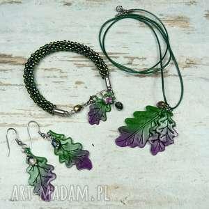 barwy jesieni komplet biżuterii, komplet-biżuterii, jesienna-biżuteria