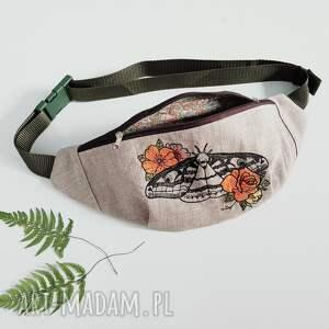 nerka lniana ćma - handmade