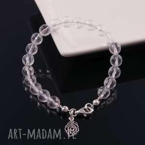 kryształ górski-srebrna bransoletka, kryształ, górski, srebrna, delikatna