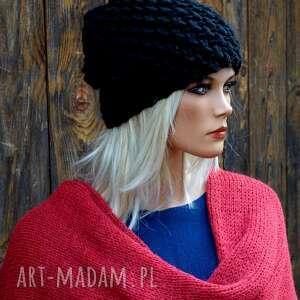 Czapka handmade nr 23 czapki hermina zimowa, wełniana czapka