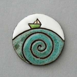 świąteczny prezent, ahoj-broszka ceramiczna, skandynawski, minimalizm, design