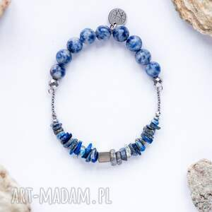 WHW High - Sea God II, sodalit, lapis-lazuli, dwustronna, kamienna, elegancka