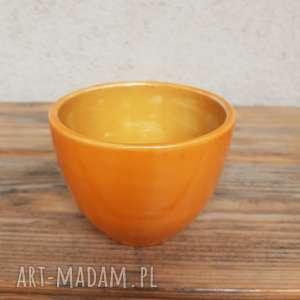 pod choinkę prezent, ceramika czarka pomarańczowa 2, czarka, miseczka