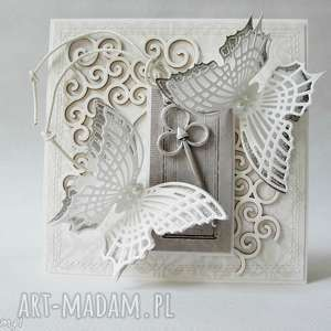 hand made scrapbooking kartki ślub - 2 sztuki - w pudełkach