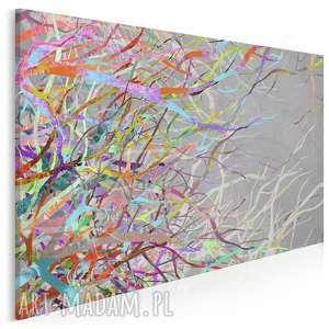 obraz na płótnie - abstrakcja gałęzie kolory 120x80 cm 52701, płomienie