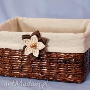 prostokątny koszyk eko koszyczek z kwiatuszkiem bukiet pasji - przechowywanie