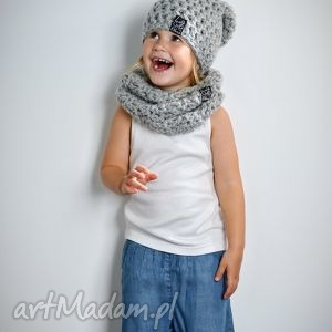 Czapka Monio 04, czapka, wełna, włóczka, dziecko, szydełko, zima
