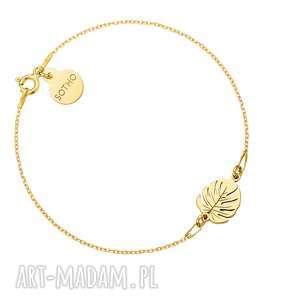 ręczne wykonanie bransoletki złota bransoletka z monsterą
