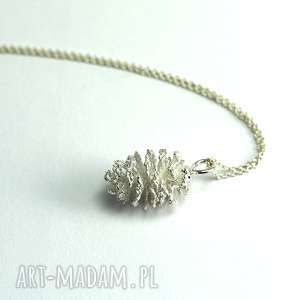 Wisiorek Szyszka Olchy, srebrny, srebro, szyszka, natura, elegancki, las, kobiecy