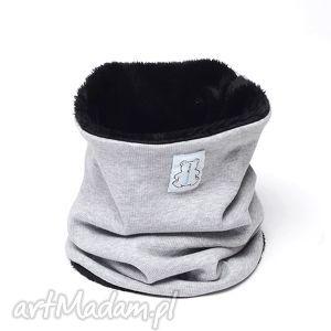 miśkowy komin czarny, miś, ciepły, zima, zimowy ubranka
