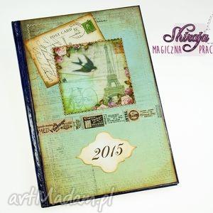 shiraja kalendarz 2015- pocztówka z paryża, kalendarz, książkowy, 2015, paryż
