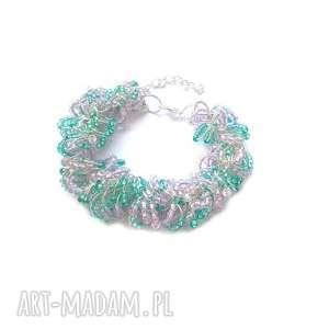 Wiosenna bransoletka na łańcuchu molicka metalowa, łańcuch