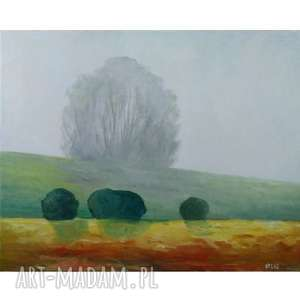 Obraz olejny PEJZAŻ Z DRZEWAMI format 50/40 cm, obraz, drzewa, olejny, pejzaż