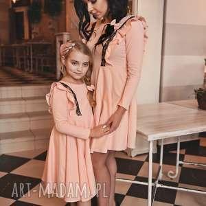 latori - sukienka dziewczęca z kolekcji mama i córka ld46/2 jasny róż