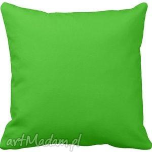 Poduszka ozdobna dekoracyjna zielona gładka 6574 poduszki