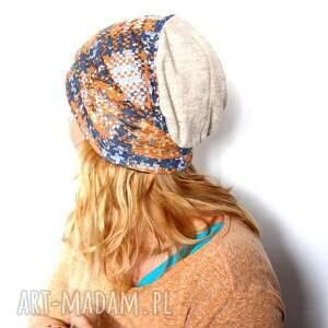 czapka damska dresowa handmade - damska, dresowa, prezent, rekonwalescencja, sport