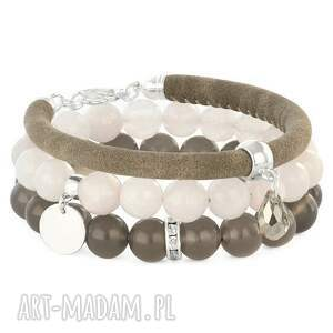 Gray agate, moon quartz ,kropla,moneta,
