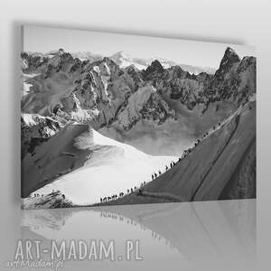 fotoobraz na płótnie - krajobraz góry 120x80 cm 907801, góry, zima, czarno-biały