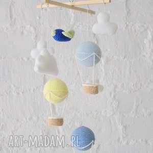 Karuzela nad łóżeczko, balony, karuzela, mobilki, samolot, dekotacja, wisząca