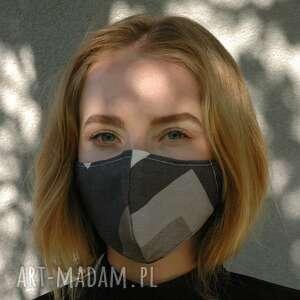 barska maseczka profilowana w szarościach, maseczka, maska