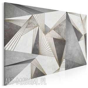vaku dsgn obraz na płótnie - abstrakcja industrialny linie kształty 120x80 cm