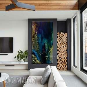 art and texture szmaragdowa inspiracja - abstrakcyjne obrazy do modnego salonu