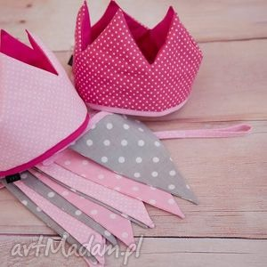 korona bawełniana róz 2 wzory do wyboru, korona, urodziny, sesje, fotograficzne