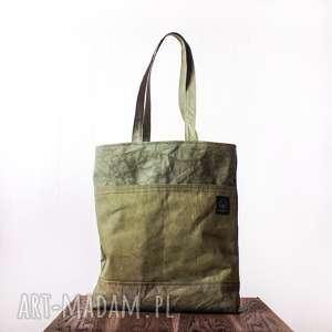 torebki torebka canvas khaki, pomysł, prezent, oliwkowa, rękodzieło, ręcznie