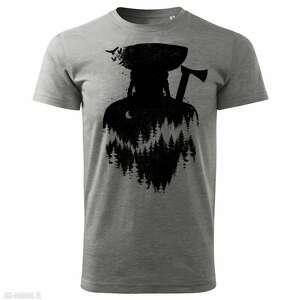 ręcznie wykonane koszulki tatra art by marian smolka - legenda janosika koszulka szara