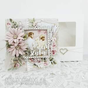 kartka w dniu ślubu - pudełku, ślub, rocznica, gratulacje, życzenia, para
