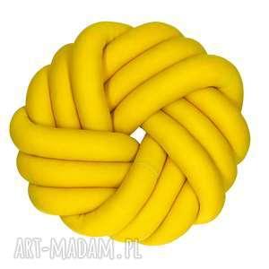 hand made poduszki ręcznie pleciona dekoracyjna poduszka supeł swirl knotpillow