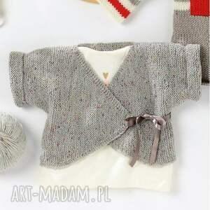 sweterek braga, sweterek, wdzianko, merino, prezent, delikatne, dziergane