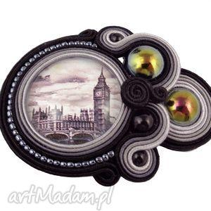 handmade broszki ~mela~ broszka sutasz londo grafika big ben london