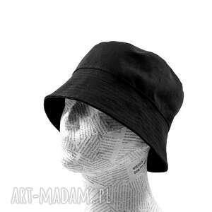 kapelusz rybacki bucket hat na lato unisex czarny rozmiar 58, bawełniany