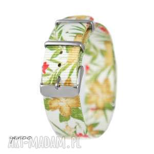 Prezent Pasek do zegarka - nato, nylonowy, dżungla, biały, zegarek,