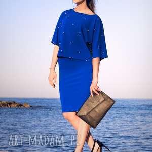 Bien Fashion Elegancka spódnica ołówkowa tuba na wysoki stan, tuba, elastyczna, midi