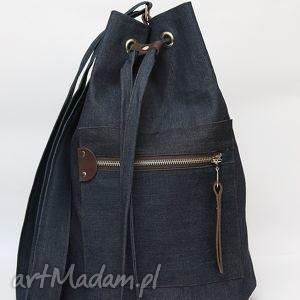 flis anna jeansowy worek 2, jeansowy, granatowy, worek, oryginalny prezent