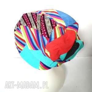 handmade czapki czapka damska kolorowa patchworkowa sportowa wiosenna