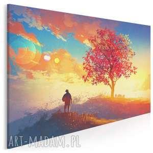 Obraz na płótnie - pejzaż jesień 120x80 cm 21401 vaku dsgn
