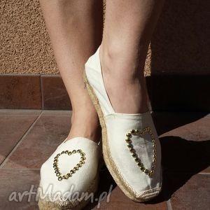 buty espadryle płócienne ze złotymi nitami z kolekcji rock, espadryle, nity