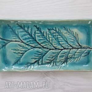 ceramika ceramiczny talerzyk z roślinką, ceramiczny, podstawka palo