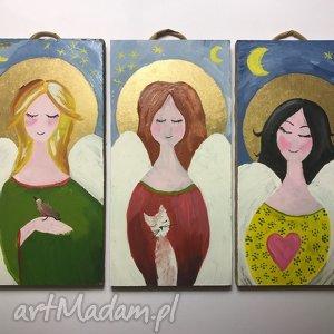 3 aniołki, aniołek, anioł, dzieci, tryptyk, aniol, obrazki, świąteczny prezent