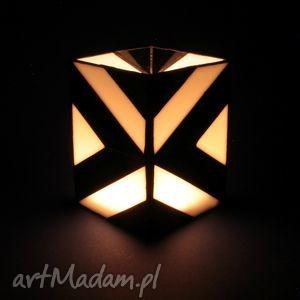 lampion witrażowy - victor, lampion, box, witraż, szkło, inny, prezent